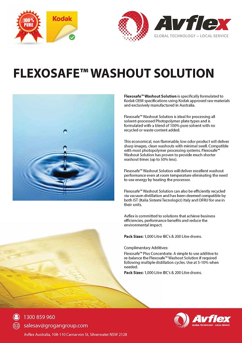 Flexosafe™ Washout Solution Flyer