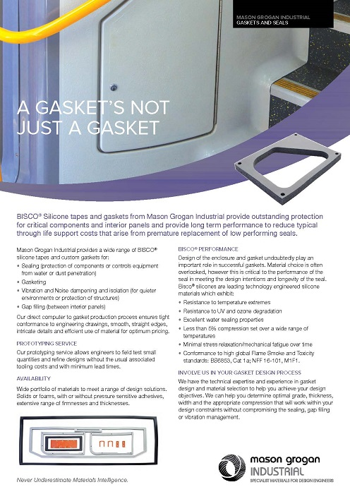 Gaskets & Extrusions Leaflet
