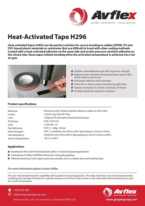 Heat Activated Tape