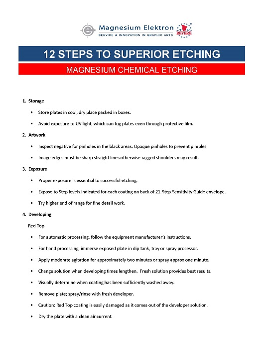 12 Steps to Superior Etching