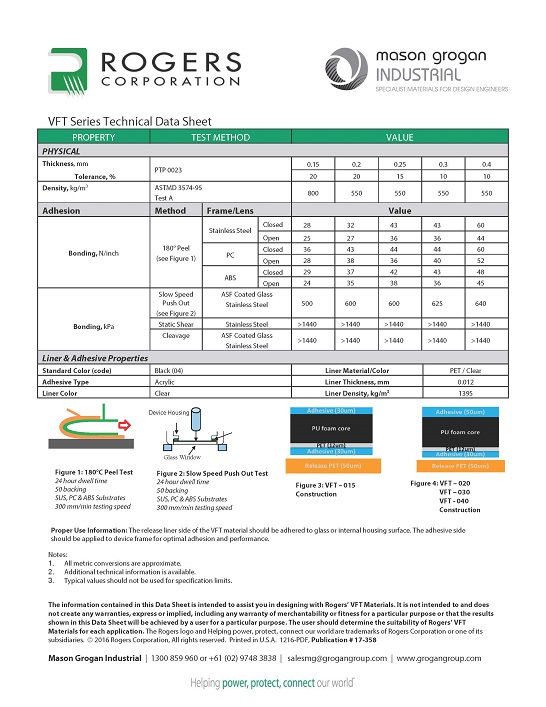 VFT Series Technical Data Sheet