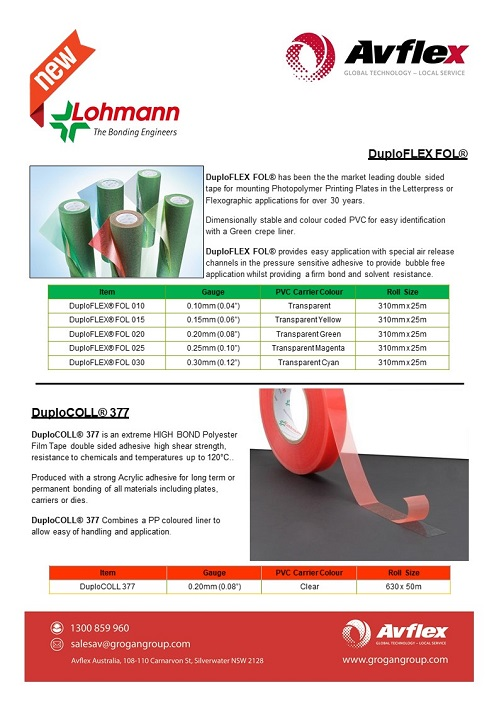 Lohmann Thin Tapes Datasheet