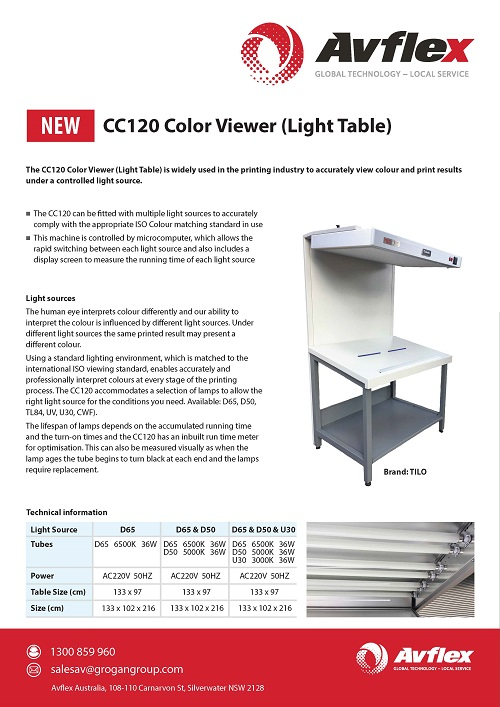 Color Viewer (Light Table) Datasheet