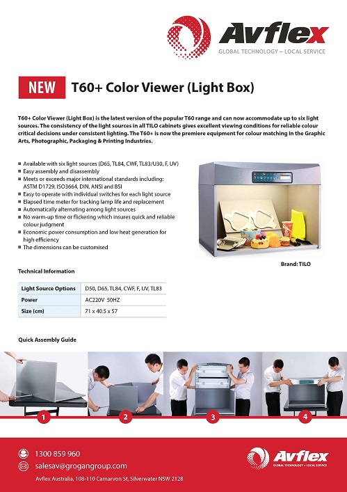 Color Viewer (Light Box) Datasheet