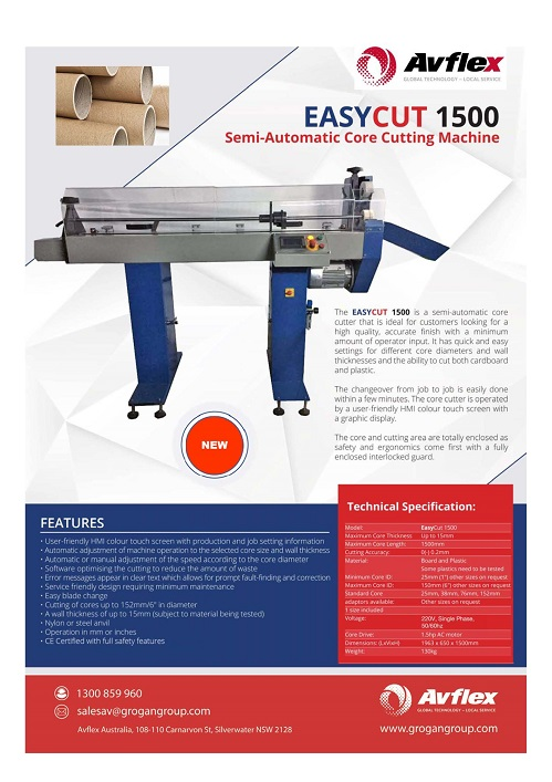 Semi-automatic Core Cutter_Easycut 1500