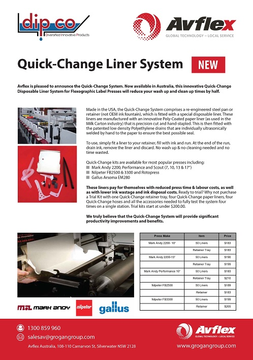Quick-Change Liner System Data Sheet