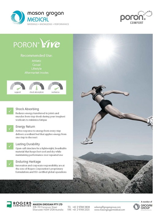 PORON® Vive Product Overview Sheet Medical
